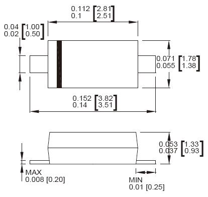 亚洲城娱乐手机客户端_SMF43A/SMF43CA瞬态抑制二极管产品尺寸图